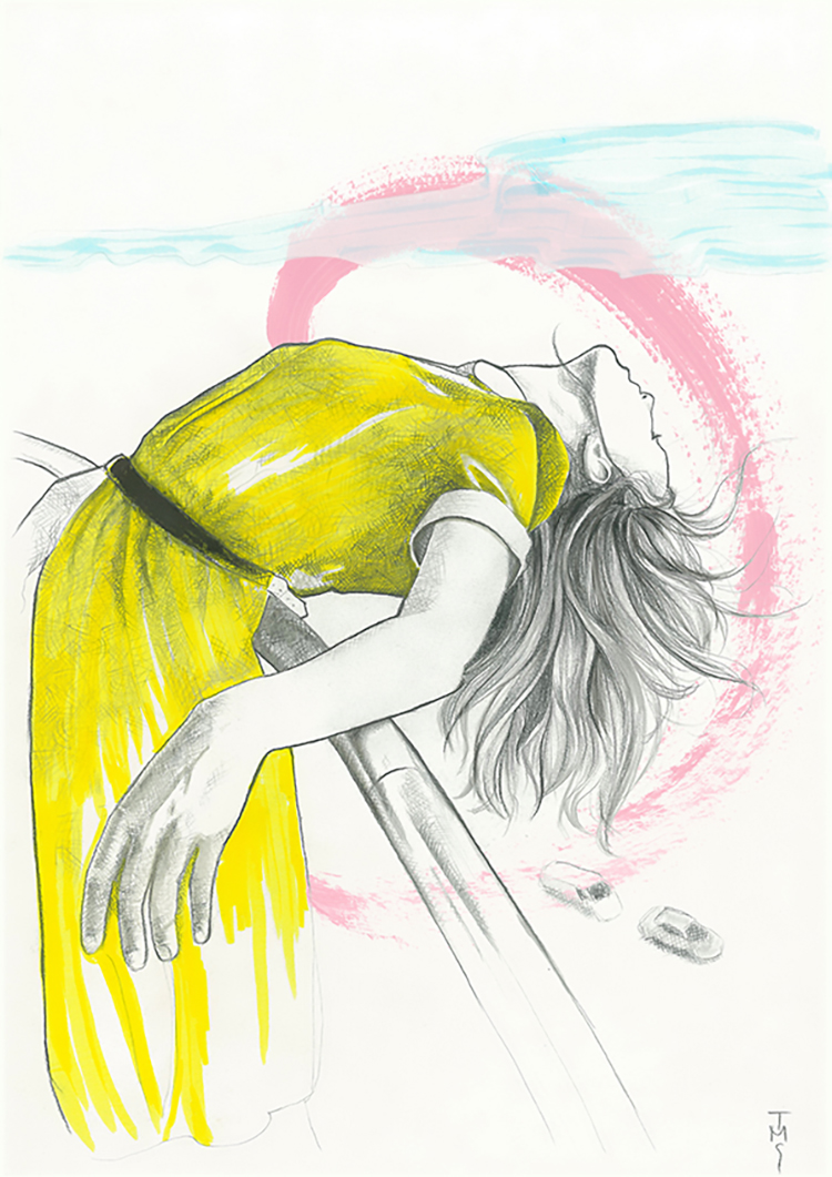 Drawn series - Yellowdress